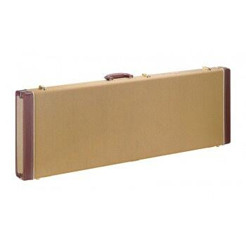 Stagg GCX-RE Tweed Rectangle Shaped Deluxe Hard Case til elektrisk guitar - Guld