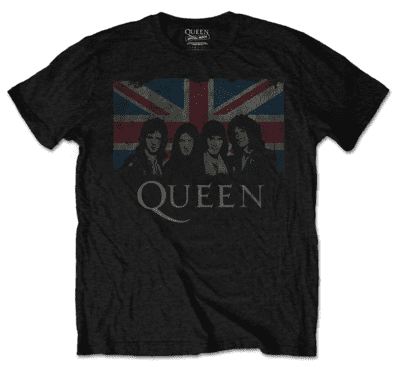 QUEEN Flag & Faces T-shirt