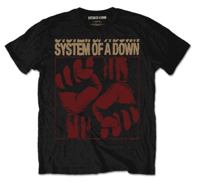 SYSTEM OF A DOWN Fists T-shirt