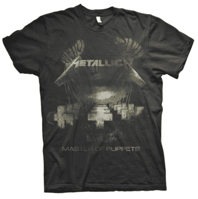 METALLICA Master of Puppets no colour T-shirt